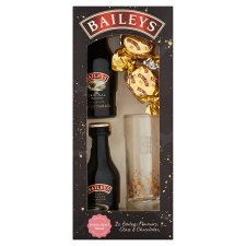 Baileys Flavours Glass And Chocolate Heart Truffle Gift Set