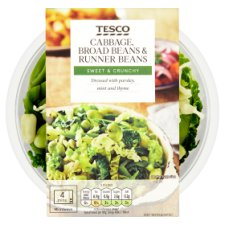 Tesco Cabbage Broad Beans And Runner Beans 250G