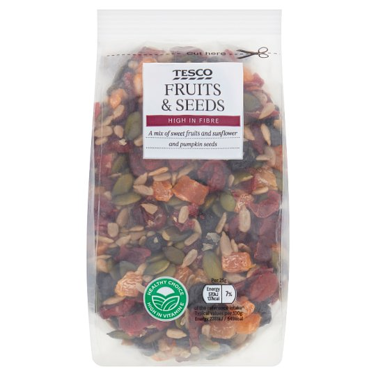 Tesco Fruit And Seed Mix 300G