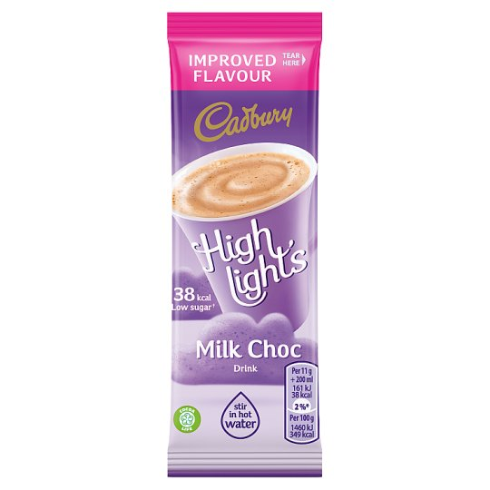 Cadbury Highlights Milk Stickpack Hot Chocolate 11G
