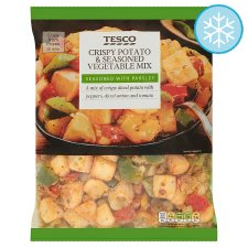 Tesco Crispy Potatoes And Seasoned Vegetable Mix 750G