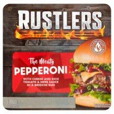 Rustlers The Meaty Pepperoni Burger 219G