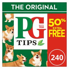 Pg Tips 160S Plus 50% Free Pyramid Teabags 696G