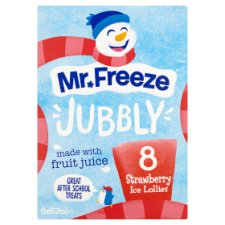 Mr Freeze Jubbly Ice Lollies Strawberry 8X62ml