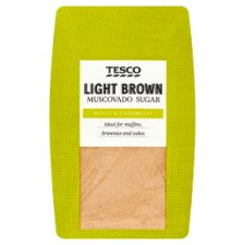 Tesco Light Muscovado Sugar 500G Pack