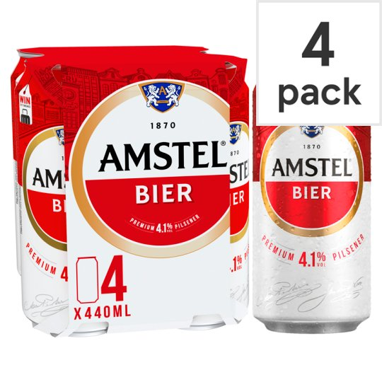 image 1 of Amstel Lager Beer Can 4 X 440Ml