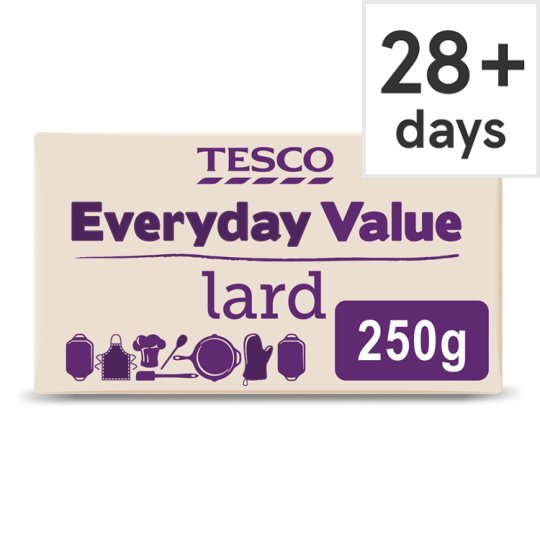 Tesco Everyday Value Lard 250g Groceries Tesco Groceries
