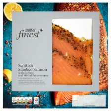 Tesco Finest Scottish Smoked Salmon With Lemon And Peppercorn 100G