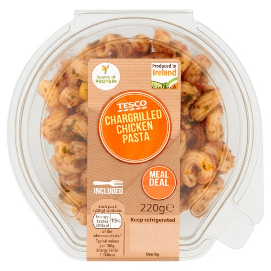 Tesco Chargrill Chicken Pasta Snack 220G