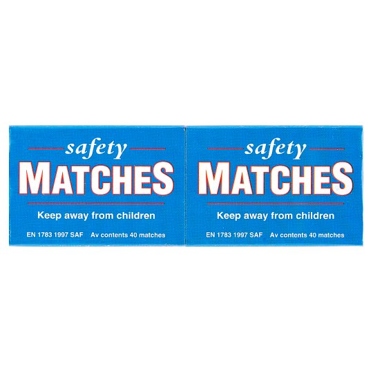 Safety Matches 6 Pack X Av 40 Matches
