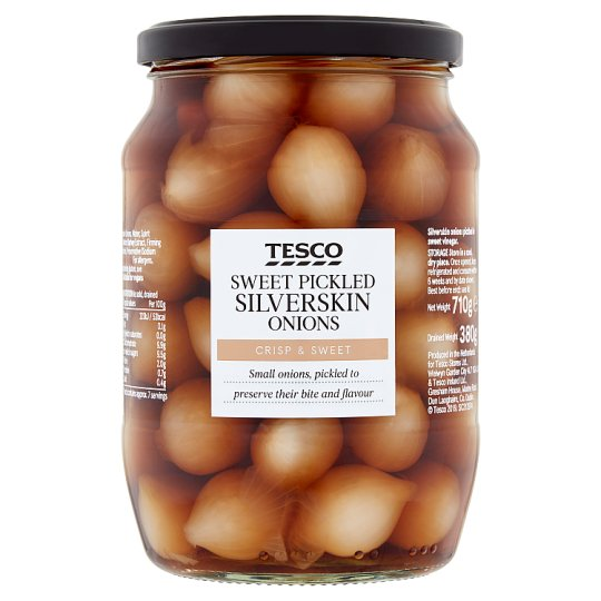Tesco Sweet Silver Skin Onions In Vinegar 710G