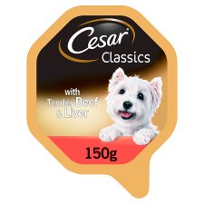 Cesar Tray Classics Beef And Liver 150G