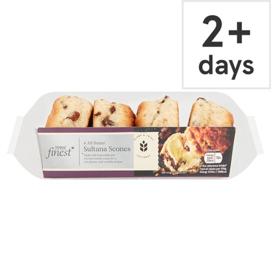 Tesco Finest Sultana Scones 4 Pack