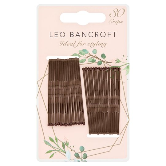Leo Bancroft Hair Grips Brown 30 Pack