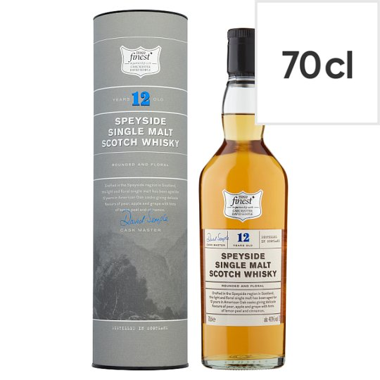Tesco Finest 12 Year Old Speyside Single Malt Whisky 70Cl