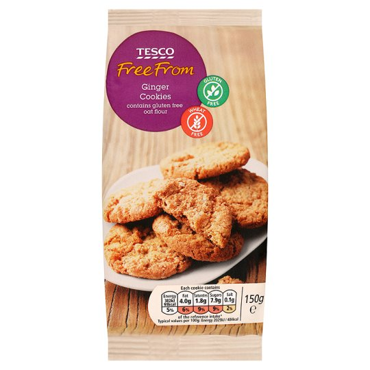 Tesco Free From Ginger Cookies 150G