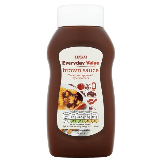 Tesco Everyday Value Brown Sauce 555G
