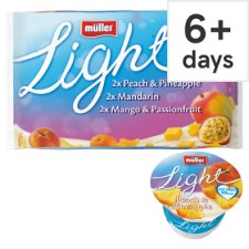 Muller Light Yellow Fruit Yogurt 6 X175g
