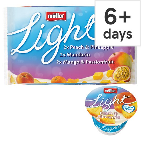 image 1 of Muller Light Yellow Fruit Yogurt 6 X175g