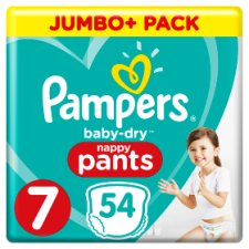Pampers Baby Dry Pants S7, 54 Jumbo Nappies
