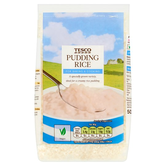 Tesco Pudding Rice 500G
