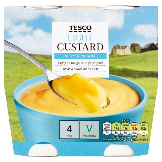 Tesco Ready To Eat Low Fat Custard 4X150g