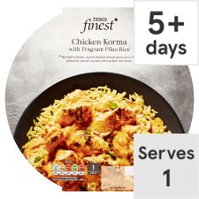 Tesco Finest Chicken Korma And Rice 450G