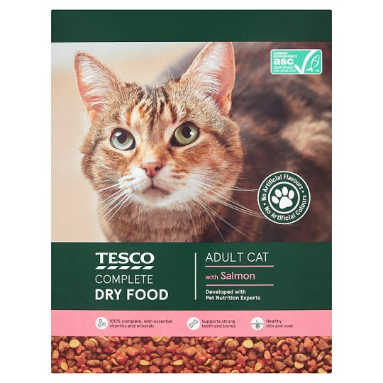 Tesco Salmon And Vegetables Dry Cat Food 1Kg