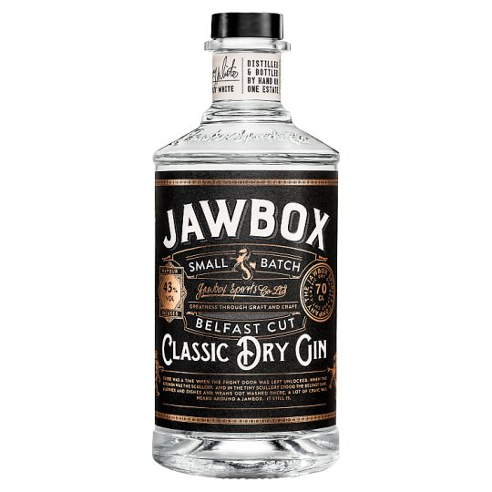 Jawbox Small Batch Dry Gin 70Cl
