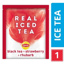 Lipton Real Iced Tea Strawberry & Rhubarb 15'S 33G