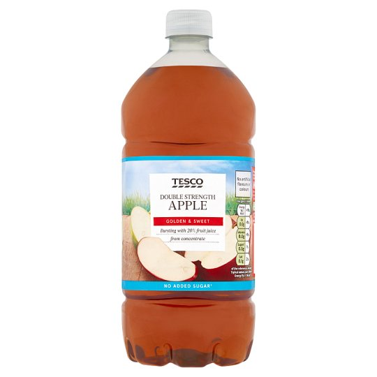 Tesco Double Strength Apple Squash No Added Sugar 1.5L
