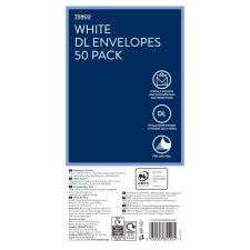 Tesco White Dl Envelopes 50 Pack
