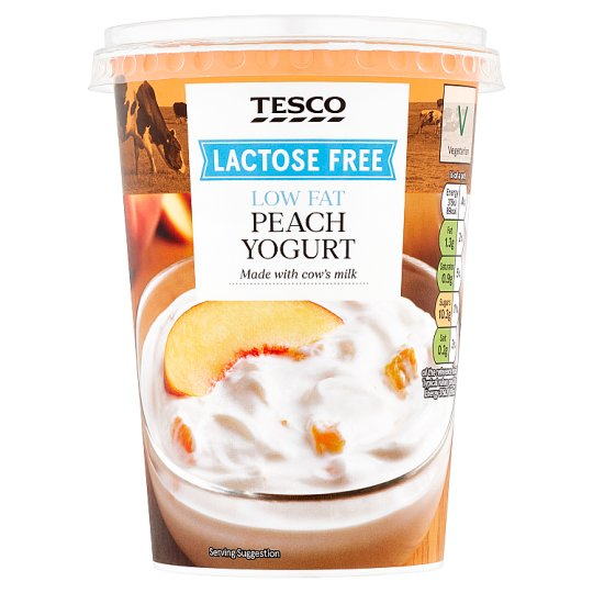 Tesco Lactose Free Peach Yogurt 400G