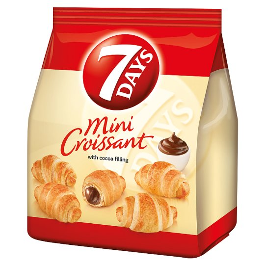 7 Days Mini Croissant With Cocoa Filling 185G