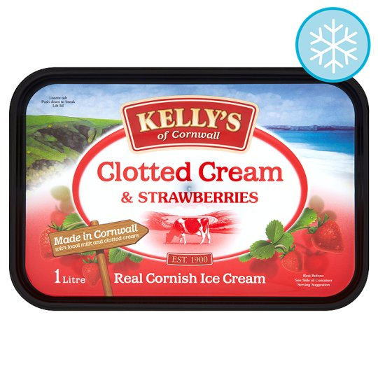 Kelly's Clotted Cream And Strawberries 1 Litre
