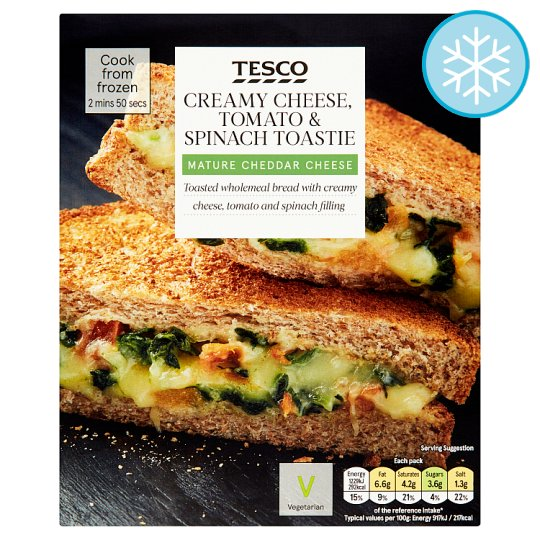 Tesco Cheese, Tomato And Spinach Toastie 134G