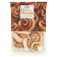 Tesco 12 Cheese And Tomato Breadswirls 345G