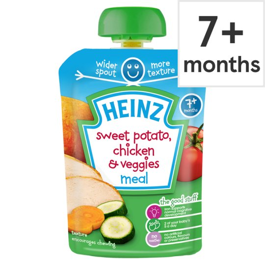 Heinz Savoury Pouch Sweet Potato Chicken And Vegetable 130G