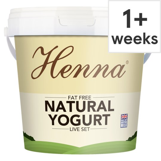 Pakeeza Henna Very Low Fat Natural Yogurt 1kg Tesco Groceries
