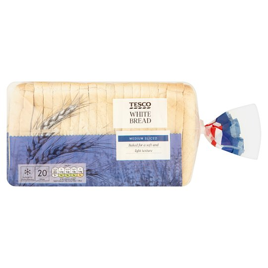Tesco White Medium Bread 800G