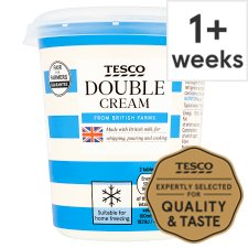 Tesco British Double Cream 300Ml