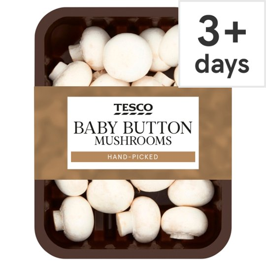 Tesco Baby Button Mushrooms 200G