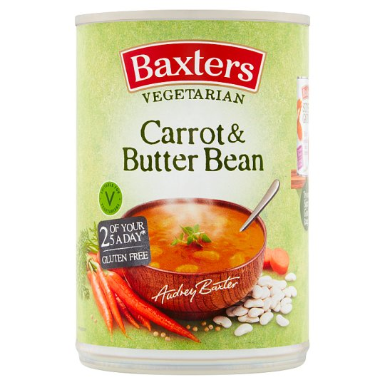 Baxters Vegetarian Carrot And Butter Bean Soup 400G