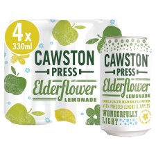 Cawston Press Elderflower Lemonade 4X330ml