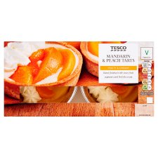 Tesco Mandarin Peach Tarts 2 Pack, 270 G