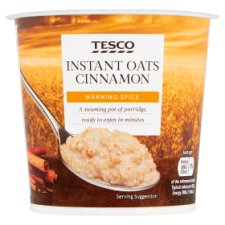 Tesco Instant Oats Cinnamon Porridge 55G
