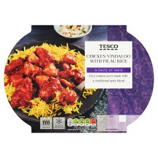 Tesco Indian Chicken Vindaloo And Rice 450G
