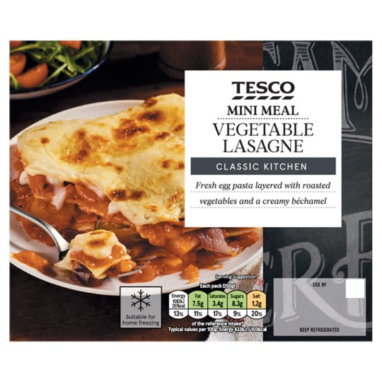 Tesco Vegetable Lasagne Mini Meal 250G