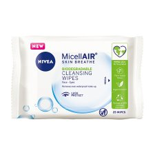 Nivea Biodegradable Micellair Cleansing Wipes 25 Pack