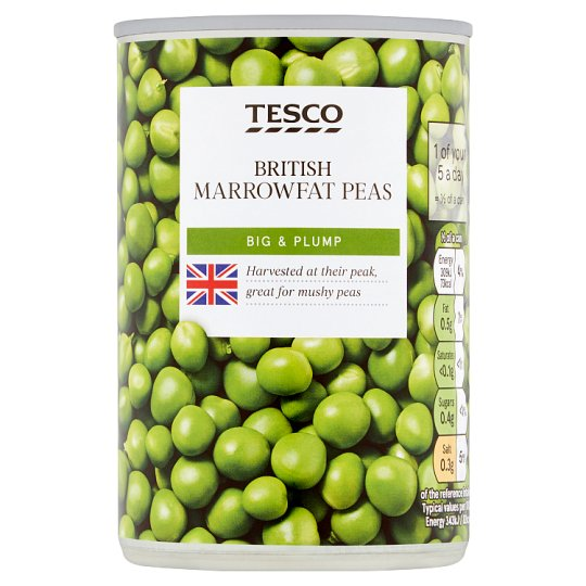 Tesco British Marrowfat Peas 300G